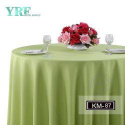Commerce de gros mariage fantaisie 132' Chiffon de la Table ronde de couleur champagne