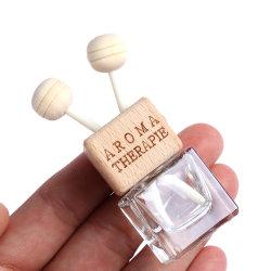 De vierkante Fles van het Parfum van de Auto van de Opening Lege Houten GLB van de Verfrissing van de Lucht van de Auto