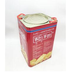 Gran contenedor de hojalata envases cajas de galletas danesas galletas
