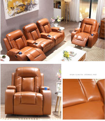 生存Roomhb1066のためのベストセラーの革ソファーの家具