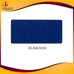 Azul de azufre Semibrillante Electrostatic Spray Revestimiento en polvo de poliéster de epoxi