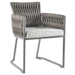 Корзину современных открытый алюминиевый ручной работы из веревки обеденный стул