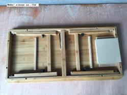 Baignoire Bac multi fonctionnel sur le lit en bois Table d'ordinateur portable de pliage de bambou