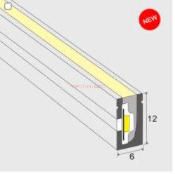 IP67 SMD 2835 12 فولت من المطاط Silicone الناعم، أنبوب مطاطي 6*12 مم شرائح LED من Neon