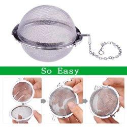 Edelstahl-Tee Infusers Tee-Kugel mit Kette