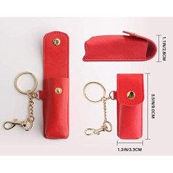 Custom портативные кожаные цепочки ключей брелок держатель косметический мешок для хранения губная помада случае держатель