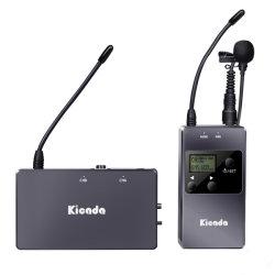 ميكروفون لاسلكي UHF رباعي القنوات KW-M01 Professional Digital للكاميرا الهاتف الذكي