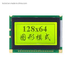 شاشة LCD 128×64 بإضاءة خلفية LED لوحدة رسومات باللون الأصفر والأخضر 20 سنًا 3.3 فولت/5 فولت 128*64 Display (شاشة العرض