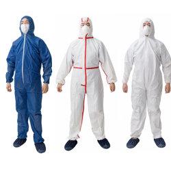 Безопасности нетканого материала типа 5 6 одноразовые одежду Coverall