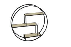 Estante de Productos Básicos de estantería de estante de pared con soporte