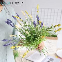 De plástico mayorista de flores artificiales Decoracion flores de lavanda MW20201