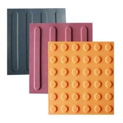 PVC 고무 촉각 포장 타일 촉각 표시기 타일 블라인드