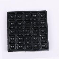 Le chocolat de formage sous vide des bacs en plastique de l'emballage personnalisé impression offset golden blister en plastique PET pour les boîtes de chocolat