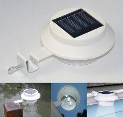 어디에서든지 태양 일요일 힘 지능적인 LED 개골창 실용적인 가벼운 3개의 LED 백색 담 램프를 방수 처리한다