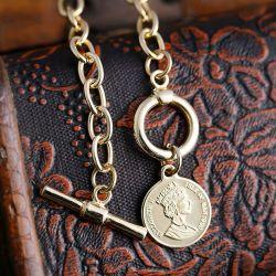 外国貿易両面レトロの最初の手紙 香港スタイルのネックレス