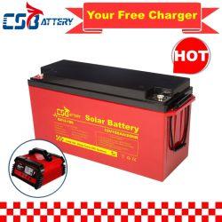 بطارية Csbattery بجهد 12 فولت وقدرة 100 أمبير/150 أمبير/الساعة/200 أمبير في الساعة ذات دورة عميقة-Gel Solar Battery لـ VRLA/SLA/SMF/MF/AGM/قابلة لإعادة الشحن/UPS/حمض الرصاص/المجموعة/للتخزين العامل بالطاقة/المحول/Scotter/CSA