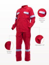 Poliéster algodão Fr Anti-Static Vestuário de protecção para a indústria do vestuário de Corridas Hospitalar