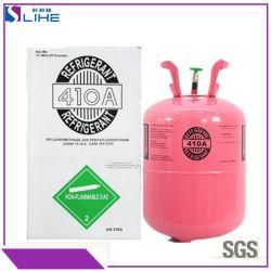 Directamente de fábrica de gas refrigerante de freón de suministro de gas refrigerante R410A.