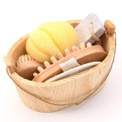 Kit de Promotion des produits de soins personnels seau en bois Bath Spa Gift Set