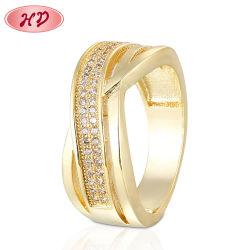 Última mulheres designs exclusivos de jóias de ouro de 18K Zircon isolados do Anel do dedo