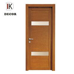 Portello poco costoso di vetro di legno di pino della stanza da bagno della Camera del materiale da costruzione