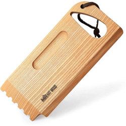 맞춤형 자연목조 BBQ 청소 도구 대나무 바비큐 그릴 스크레퍼 그루브