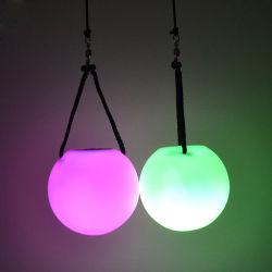 RGB Kleur die van Linli LEIDENE Poi Bal, het Opvlammen die Spinballs, Licht veranderen omhoog met Bal jongleren