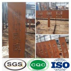 مصح ذو ورقة معدنية من النوع الساخن ملفوفة بأللوي عالية الجودة C/ A633 مواد البناء من الألواح الفولاذية المقاومة للتآكل من الدرجة E/ S235j2w للطقس لسعر الديكور