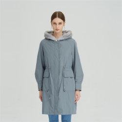 Vestido 100% de piel de lana de piel de piel de Mink Fur Women Nuevo Invierno Retracción Nick Coat