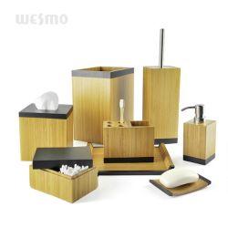 Accessorio decorativo carbonizzato del bagno degli elementi della famiglia della stanza da bagno di legno di bambù del prodotto