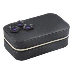 Haut de gamme en cuir de luxe bijoux de fantaisie de velours pourpre Emballage