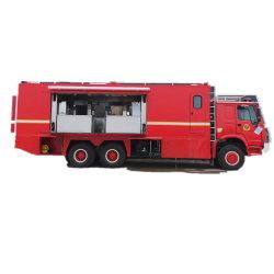 HOWO personalizada cocina móvil de 6X6 de cocción de alimentos para el vehículo de apoyo militar del ejército de los bomberos de catering al aire libre