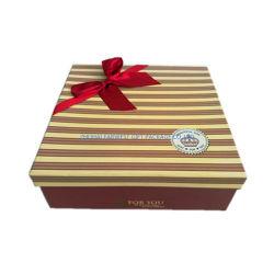 صندوق هدايا لورق من الورق المقوى مع قوس الشريط ربط 3 صناديق واحدة مجموعة سعر جيد