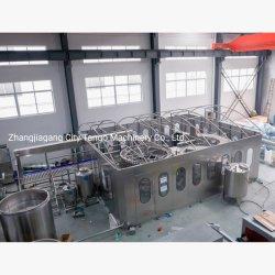 Автоматическая стеклянную бутылку газированных напитков пиво заполнение производственной линии розлива