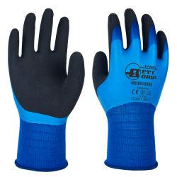 Revêtement en nylon 13G Triple gant de travail étanche