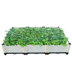 [ثري-بوإكس] [توو-تير] يزرع صندوق كبيرة مستطيلة بلاستيكيّة مزارع صندوق مع عجلة أوروبا أسلوب لأنّ يبستن