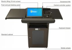 Pochar S700 Multimedia Audio Visual Digital Integrada púlpitos