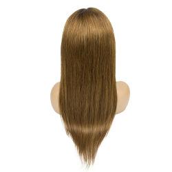 Bruine Kleur voor Pruik van het Menselijke Haar van Glueless van de Zwarte de In het groot Goedkope
