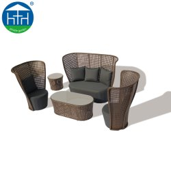 Art Decoration Furniture Rattan Wicker Divano Set All Weather Con Cuscino Cuscino