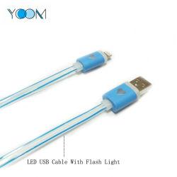 Usine Ycom Vente directe du câble USB à LED avec flash de lumière pour iPhone