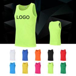 Comercio al por mayor vestidos baratos Logotipo personalizado Diseño de Moda Gimnasio camisetas prendas de vestir ropa casual Fitness Mens Stringer Tanktop