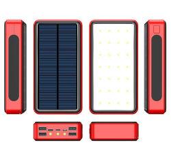 80000mAh Wireless Solar Mobile Handy Ladegerät Externe Batterie mit 4USB LED für Xiaomi iPhone
