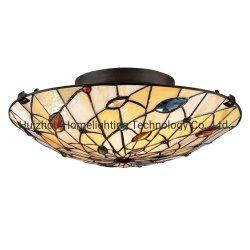 Tfc-A80バロック式のTiffany装飾的な2ライトガラスのフラッシュ台紙の天井の照明