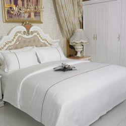 60*40s Compruebe Jacquard 100% de satén algodón 120*200 juego de hojas de cama Ropa de cama para hoteles (JRAC056)