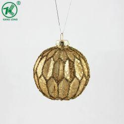 Золотой рождественские украшения украшение Стеклянный шарик