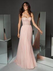 Pink Strapless Sexy Lace Suite Senhoras Bridesmaid Dress vestido de Noite