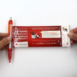 De plastiek Afgedrukte Ballpoint van de Reclame van de Pen van de Banner van de Gift van de Pen van de Vlieger Promotie