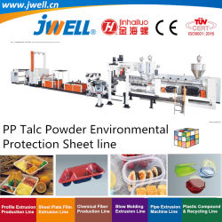Jwell- PP PSのリサイクルするプラスチック環境保護シート放出に緑の食糧容器のためのプラスチックコップ機械生産をし、よい価格を包む