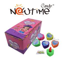 NTT19004組合せのフルーツの味キャンデーが付いている多彩な希望の蝋燭のおもちゃ
