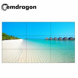 55 pulgadas de retroiluminación LED de 3X3 Pantalla LCD en el interior de la pared de vídeo integrada con bisel ultra estrecho Panel para mostrar publicidad